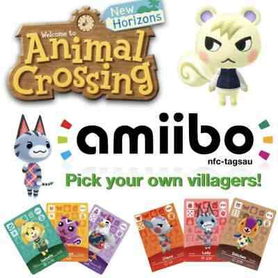 AU6 • Buy NFC Amiibo Cards - Any Villager! New Horizons Game Tested QLD STOCK