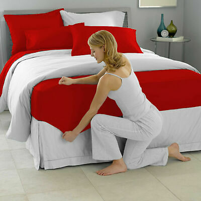 £8.69 • Buy 40CM EXTRA DEEP Fitted Sheet Single Double Super King Bed Size OR Pillow Case UK