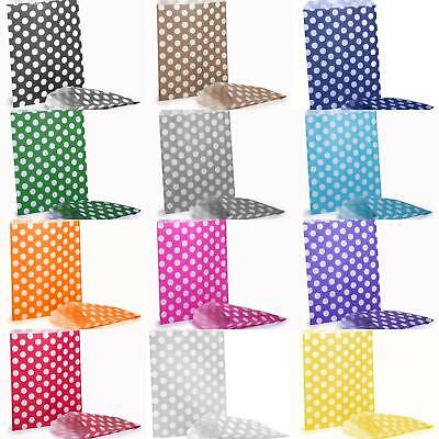 £3.45 • Buy 100x Polka Dot Candy Paper Bags Sweet Wedding Favour Gift Shop Party Sweetie
