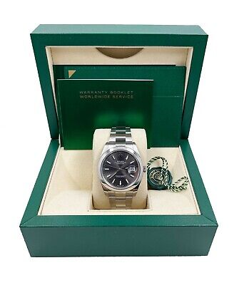 $ CDN10393.07 • Buy Rolex 126300  Datejust 41 Slate Dial Stainless Steel Box Booklets