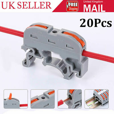 £8.65 • Buy 20PCS Din Rail Universal Compact Wire Wiring Connector Conductor Terminal Block