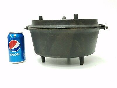$ CDN176.10 • Buy Cast Iron Camp Dutch Oven Grill Lewis & Clark Corps Of Discovery 5 Qt Camp Chef