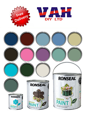 £8.25 • Buy Ronseal Outdoor Garden Paint - For Exterior Wood Metal Stone Brick - All Colours