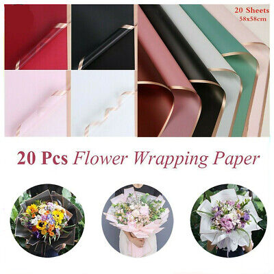 £6.99 • Buy 20pcs Flower Packaging Paper Frosted Florist Handmade Wrapping Bouquet DIY Gift