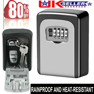 NEW High Security Wall Mounted Key Safe Box Code Lock Key Storage Indoor Outdoor • 9.98£