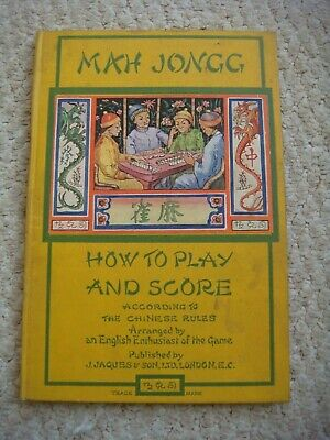 $34.39 • Buy Vintage  Mah Jongg  How To Play & Score According To Chinese Rule Book J Jaques