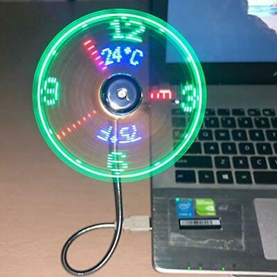 AU29.11 • Buy USB Clock Fan Real Time Temperature Function Silver 1 Year Clock NEW