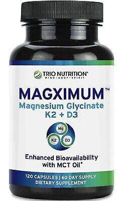 £6.73 • Buy Magnesium Glycinate   Boosted With K2 D3 Vitamin   Chelated With MCT Oil