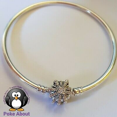 AU80 • Buy Pandora Ltd Edition Bangle Silver Sparkling Star 19cm 597563 Best Is Yet To Come