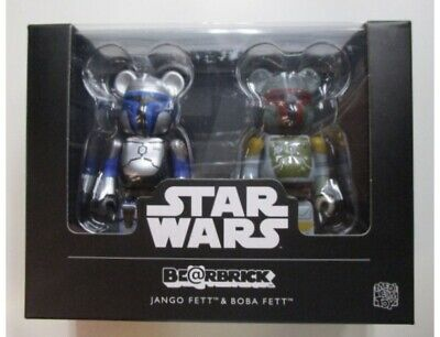 $69.99 • Buy RARE Bobba+Jango Fett Medicom 100% Bearbrick Star Wars 2 Figure Pack US Seller