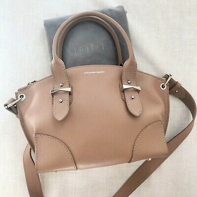 AU659 • Buy ALEXANDER MCQUEEN Pink/Nude Small Grained Calfskin Leather Legend Bag Tote