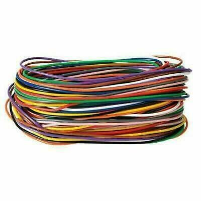£5.49 • Buy 11 X 2m Single Core Hook-up Wire (1/0.6mm) 11 Colours Each 2m In Length