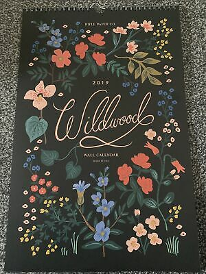 £9.99 • Buy Rifle Paper Co 2019 Illustrated Wall Calendar Wildwood Floral For Craft Framing