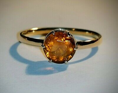 £135 • Buy 9ct Gold Madeira Citrine Ring Size O