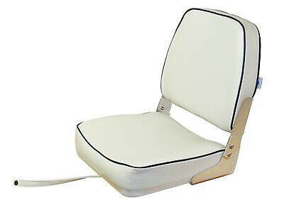 $ CDN95.32 • Buy Folding Boat Seat White With Blue Stripes