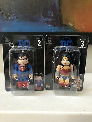 $69.99 • Buy RARE Superman Wonder Woman DC 100% Bearbrick Justice League 2 Figure Lot USSelle