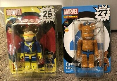 $54.99 • Buy RARE Cylops Thing Marvel 100% Bearbrick 2 Figure Lot US Seller Fantastic Four