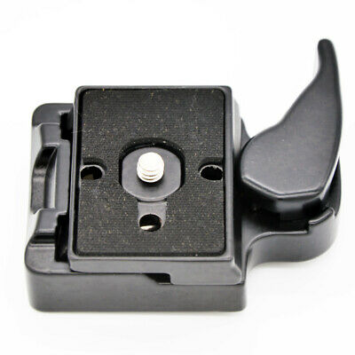 £6.89 • Buy Quick Release Clamp Adapter Bracket + QR Plate For Manfrotto Tripod Monopod Head