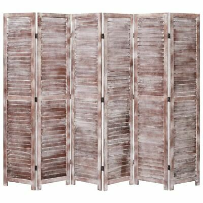 AU238.95 • Buy Folding Room Divider With Vents 6-Panel Privacy Screen Freestanding Partition