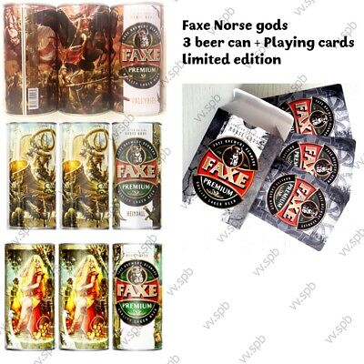 $ CDN72.43 • Buy Faxe Limited Set : 3 Empty Can Beer + Playing Cards