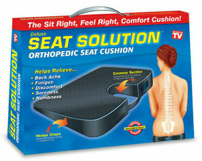 £9.50 • Buy Orthopaedic Seat Cushion Wedge Tailbone Pillow Coccyx Spine Back Pain Solution