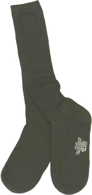 Military Issued OD Green Anti-Microbial Boot Sock 3-Pack-NEW • 11.30£