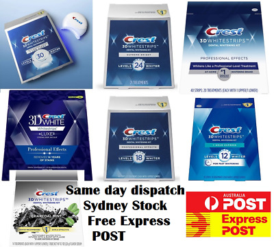 AU35 • Buy Crest 3D White Professional Effect Supreme 1 Hour Express Teeth Whitening Strips