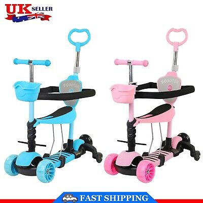 £28.54 • Buy Kids Scooter Adjust Seat Toddler Kick Scooter Flashing Wheels Child Toys 5-in-1