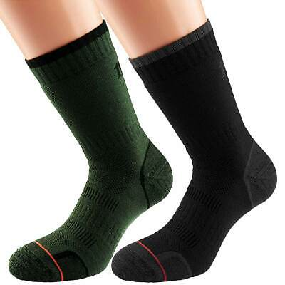 1000 Mile Combat Socks Single-Layer Outdoor Military Twin Pack Green/Charcoal • 16.95£