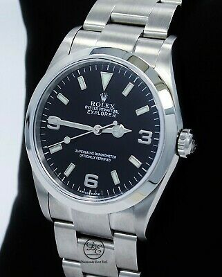 $ CDN8747.35 • Buy Rolex Explorer I 114270 Stainless Steel Oyster 36mm Black Dial Watch *MINT*