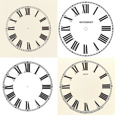 £4.99 • Buy New Replacement Roman Clock Dials Faces Strong Card Paper - Sizes 50mm - 295mm
