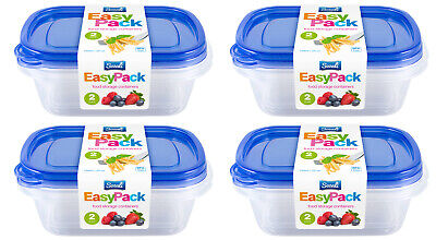 £8.49 • Buy 8pc 750ml Food Storage Container Box With Lids Tupperware Plastic Strong Handy