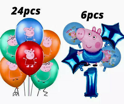 £7.99 • Buy Peppa Pig, George Family Foil And Latex Balloons Kids Birthday Party Decoration