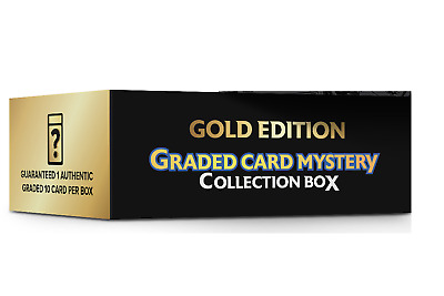 $79.95 • Buy Pokemon Graded Card Mystery Collection Gold Box- 1 Graded 10 Card Per Box -