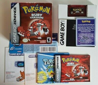 $399.99 • Buy Pokemon Ruby (Gameboy Advance 2002) Complete In Box - Authentic