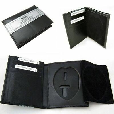 £10.79 • Buy RFID Leather Wallet Badge Holder Sheriff Officer ID Police Shield Security Black