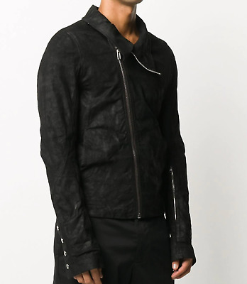 $2495 | Rick Owens Leather Jacket 46 36 Xs High Neck Lambskin  • 480.70£