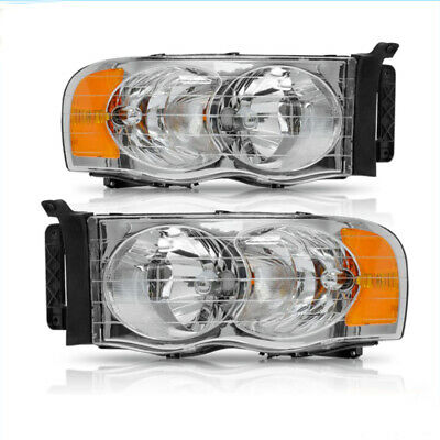 $65.59 • Buy For 02-05 Dodge Ram 1500/2500/3500 Pickup Clear Headlights Head Lamps Left+Right
