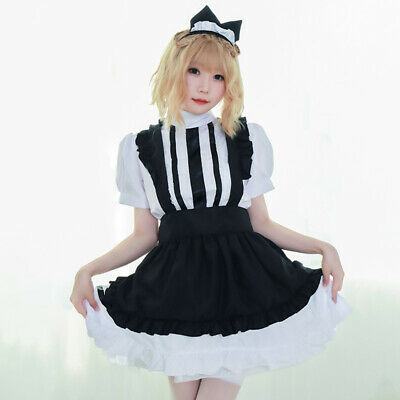 $20.39 • Buy Sexy Lady Lolita Waitress Costume Womens Maid Outfit Dress Apron Suit Cosplay US