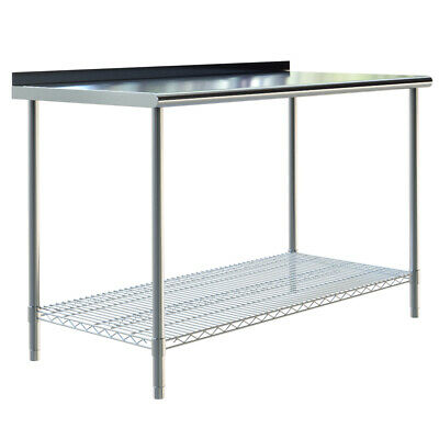 £135.95 • Buy Stainless Steel Commercial Catering Work Table Shelf Kitchen Food Prep Bench