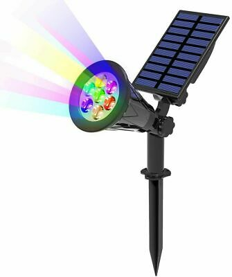 £13.99 • Buy Solar Spot Lights LED Colour Changing Projection Stake Garden Light Outdoor UK