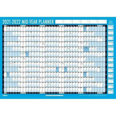 £5.95 • Buy A2 2021-2022 Academic Mid Year Student Wall Planner Calendar Pen & Adhesive Dots