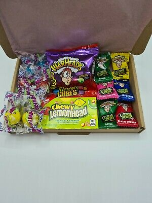 Mini Sour American Sweets Gift Box - USA Candy Hamper - Warheads - Cry Baby's • 6.25£