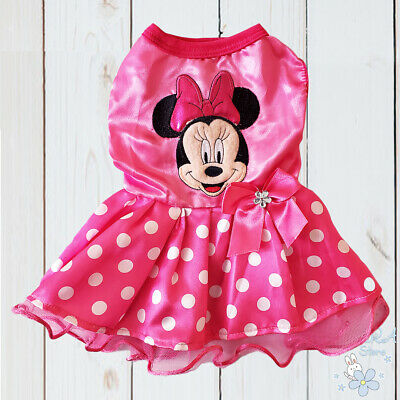 New Minnie Mouse Cute Dog Puppy Costume Clothes Birthday Party Tutu Dress • 10.87£