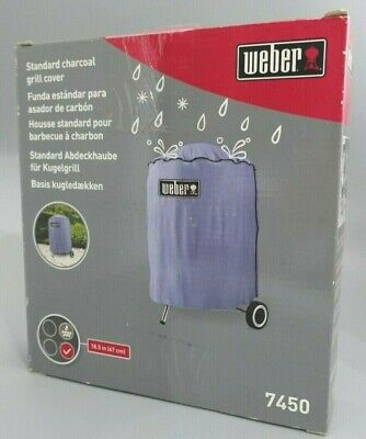 "$ CDN42.51 • Buy Genuine WEBER 7450 BBQ Grill Cover Fits 47cm 18"" Charcoal Barbecue Weatherproof"