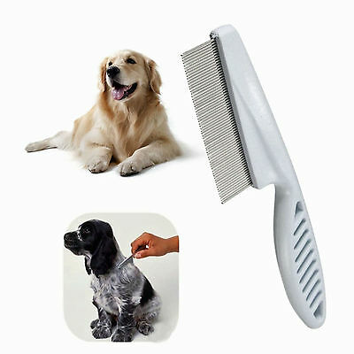 £2.25 • Buy Pet Dog Cat Puppy Kitten Flea Comb Stainless Pin Hair And Fur Grooming Brush UK