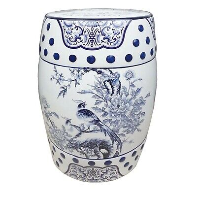 £119 • Buy Chinese Ceramic Porcelain Stool Plant Stand Side Table. Blue White