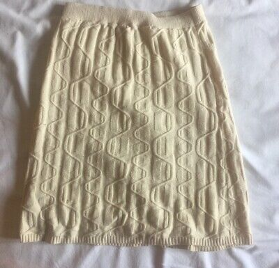 £11.50 • Buy FREE PEOPLE White/ecru Cable Knit Pencil Skirt Size Xs
