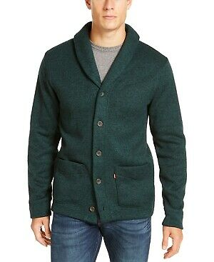 $19.99 • Buy Levi's Mens Green Heather Long Sleeve Button Down Cardigan Sweater