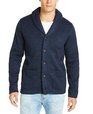 $19.99 • Buy Levi's Mens Navy Lightweight Heather Long Sleeve V Neck Classic Fit Button Down
